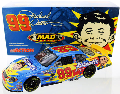 Michael Waltrip. 2004 #99 Aaron's Dream Machine / Mad Magazine. Autographed