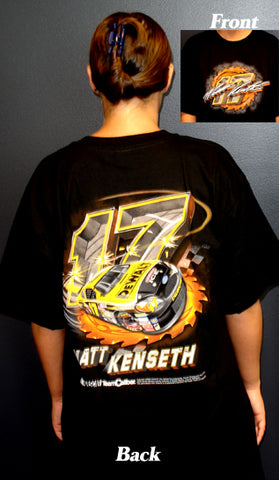 Matt Kenseth Black T-Shirt 100% Cotton Nascar Diecast