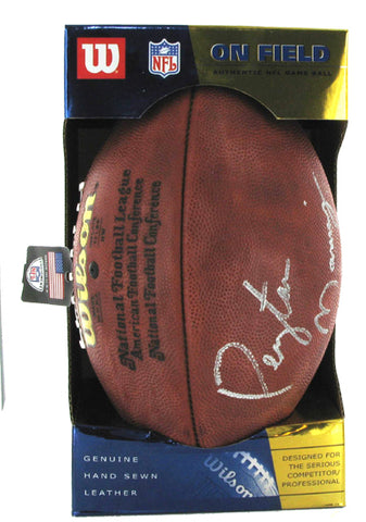 Peyton Manning autographed Wilson On Field Authentic NFL Game Football