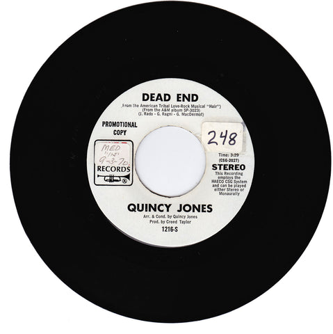 Quincy Jones. Dead End / Gula Matari