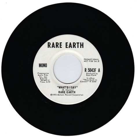 Rare Earth. What'd I Say / What'd I Say