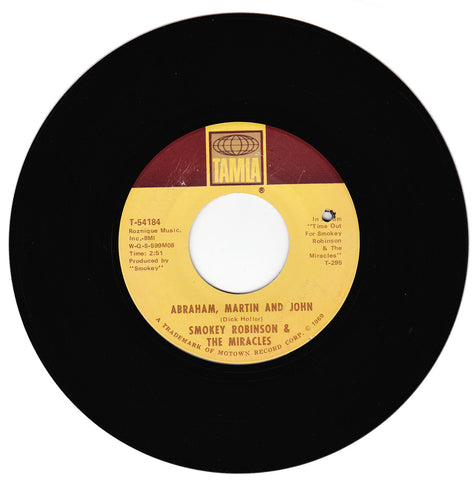 Smokey Robinson & The Miracles. Abraham, Martin and John / Much Better Off