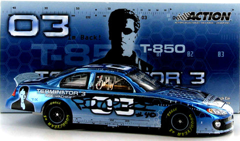 Terminator 3 Program Car with 7 Legends Autographs Nascar Diecast
