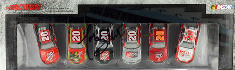 Tony Stewart. Six 1-64 Scale Diecast Cars. Autographed.