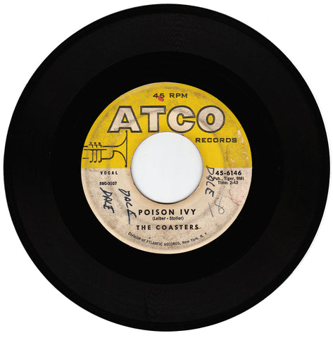 The Coasters. Poison Ivy / I'm A Hog For You