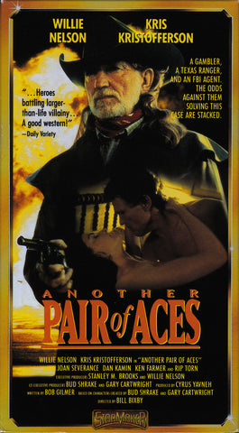 VHS Tape. Another Pair of Aces starring Willie Nelson and Kris Kristofferson