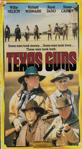 VHS Tape. Texas Guns Starring Willie Nelson and Richard Widmark