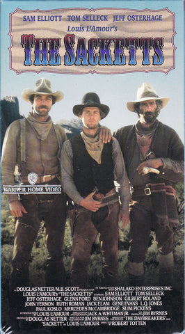 VHS Tape. The Sacketts starring Tom Selleck, Sam Elliott and Jeff Osterhage