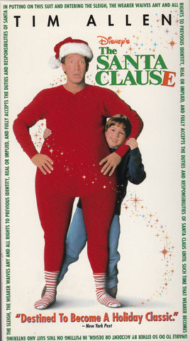 VHS Tape. Disney's The Santa Clause starring Tim Allen