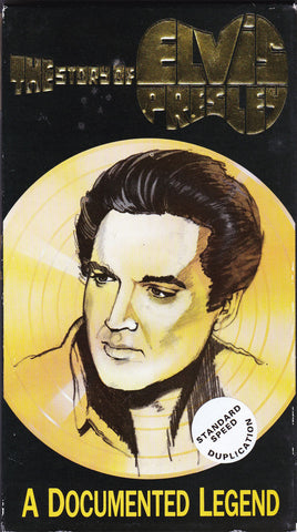 VHS Tape. The Story Of Elvis Presley, A Documented Legend