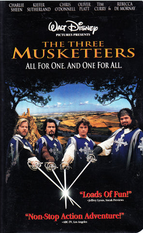 VHS. Walt Disney Presents: The Three Musketeers, All For One And One For All