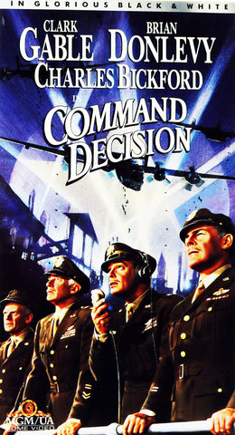 VHS Tape. Command Decision starring Clark Gable