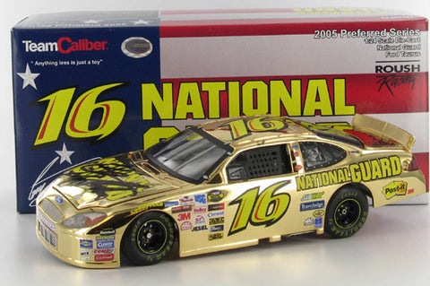 Greg Biffle #16 National Guard 2005 Ford Taurus Gold Signed Nascar Diecast
