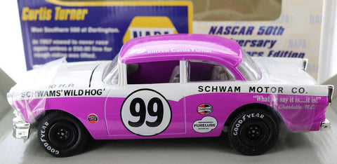 Curtis Turner. #99 Schwams Wild Hog 1956 Ford