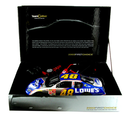 Jimmie Johnson #48 Lowe's 2003 Monte Carlo First Choice Nascar Diecast