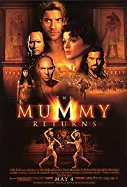 VHS Tape. The Mummy Returns Starring Brendan Fraser Rachel Weisz and Dwayne Johnson
