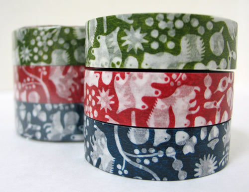 Forest of Squirrels Washi Tape