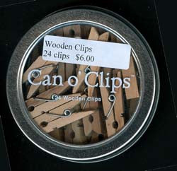 Italian Wooden Clips - Can o' Clips