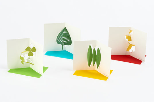 Leaves Pop-up Message Cards