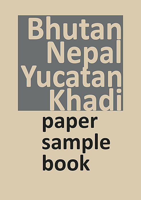 Bhutan, Nepal, Yucatan, Khadi Indian Sample Book