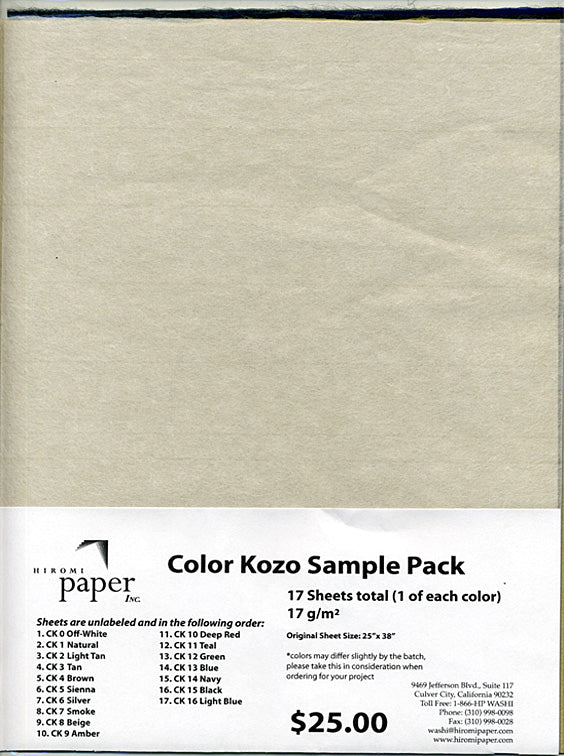 Color Kozo Sample Pack