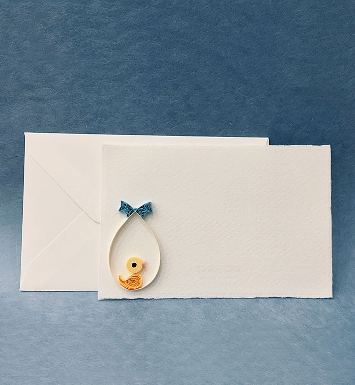 Fabriano greeting card - Quilling chick