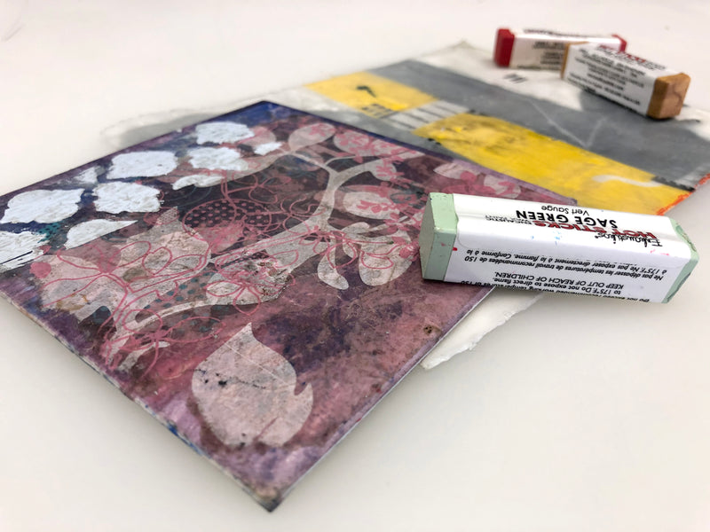 January 2020: Encaustic Collage Workshop with Pamela Smith Hudson