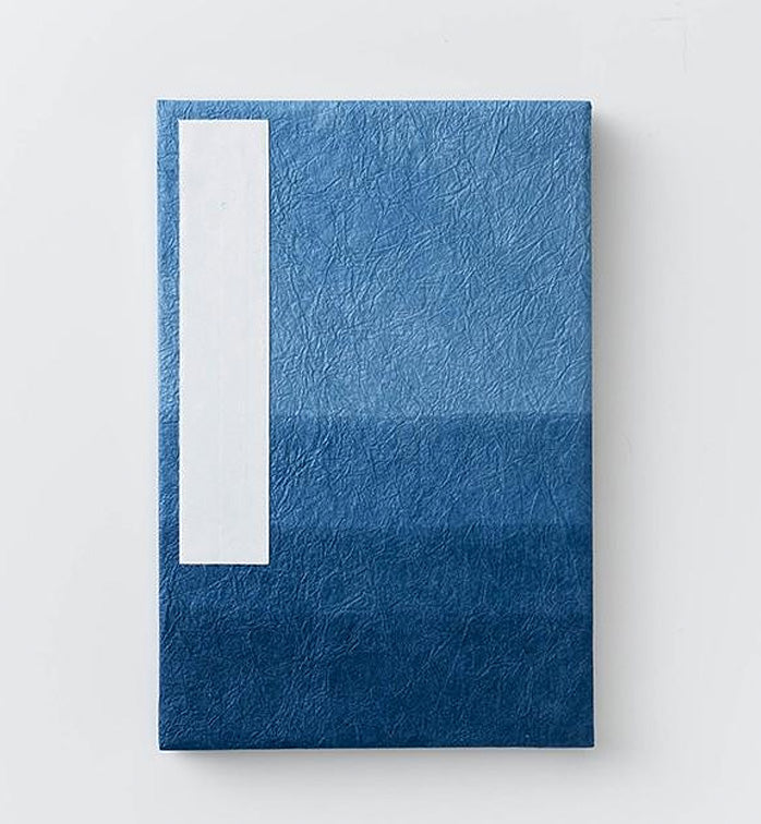 Orihon- Japanese Accordion Notebooks: Large Indigo Dazome