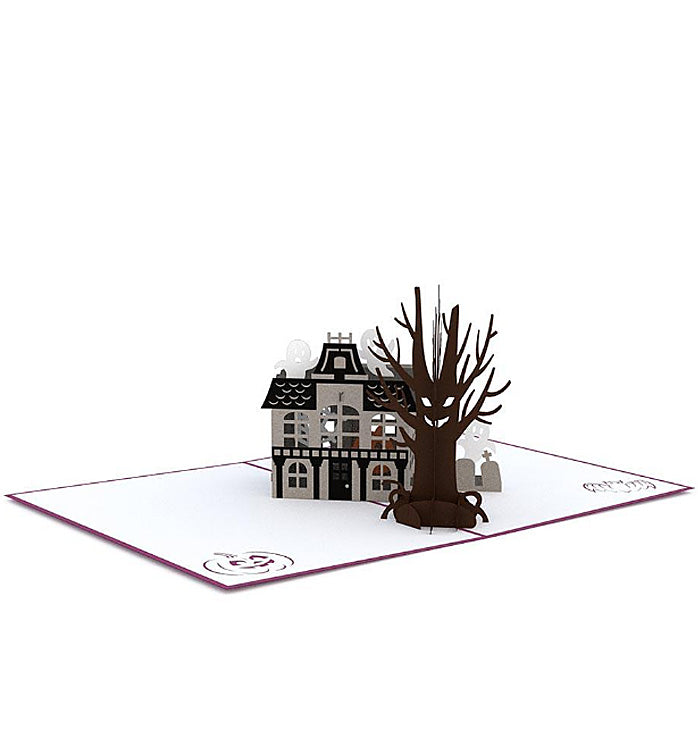 Halloween Lovepop Pop-up Card: Haunted House