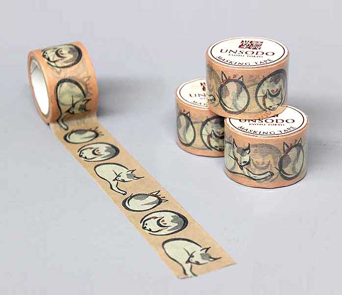Ukiyoe Washi Tape: M-14 Cats (Keisai)