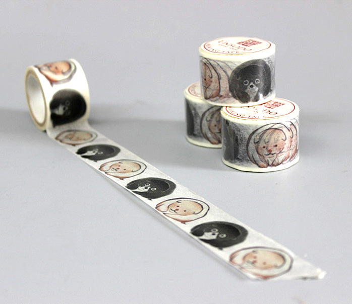 Ukiyoe Washi Tape: M-2 Dogs