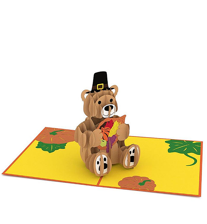 Lovepop Pop-up Card: Pilgrim Bear