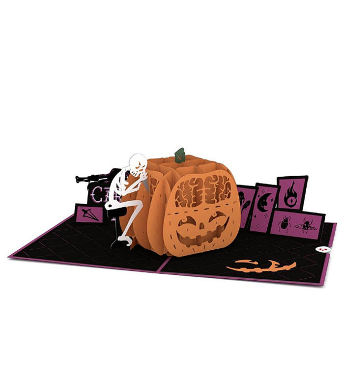 Halloween Lovepop Pop-up Card: Pumpkin Carving Madness