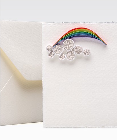 Fabriano greeting card - Quilling Rainbow