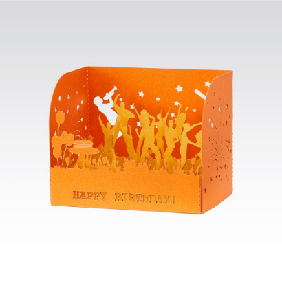 Fabriano greeting card - 3D Happy Birthday (2 colors)