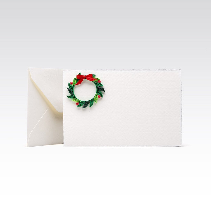 Fabriano greeting card - Quilling Wreath
