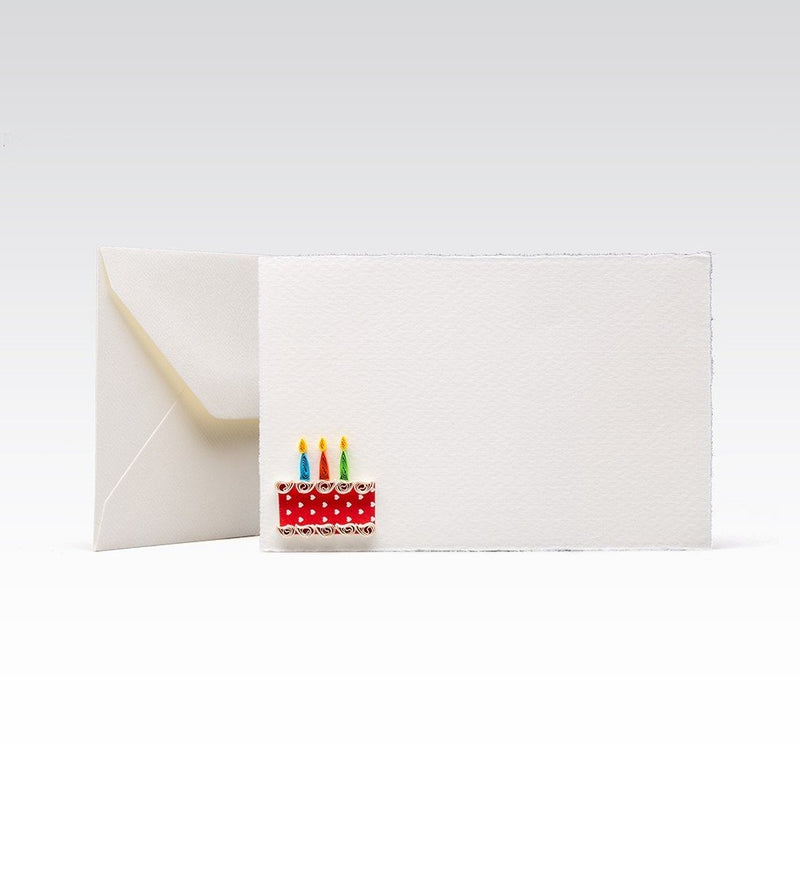 Fabriano greeting card - Quilling Birthday Cake