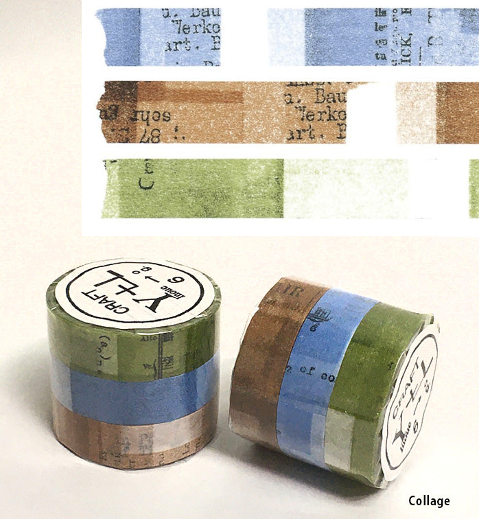 Collage & Old Book Washi Tape