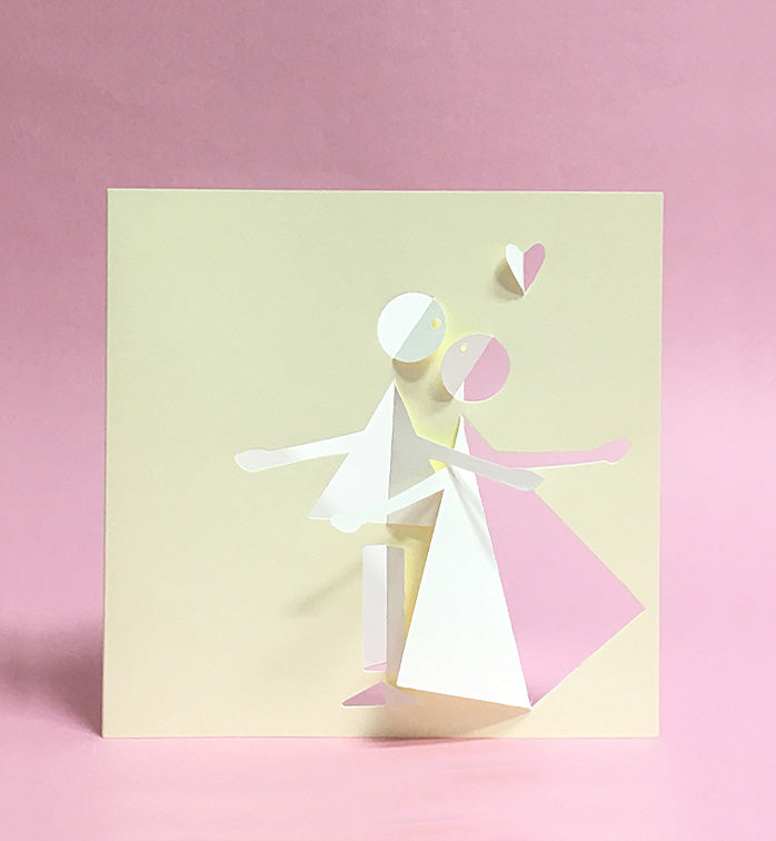 Fabriano- Couple Dancing Pop-up Card