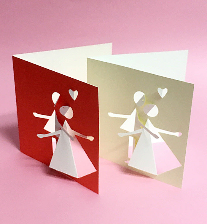 Fabriano greeting card - a couple (white/red)