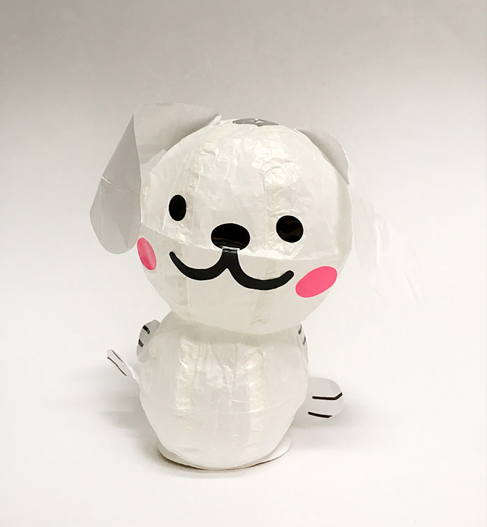 Kamifusen Balloons: White Dog