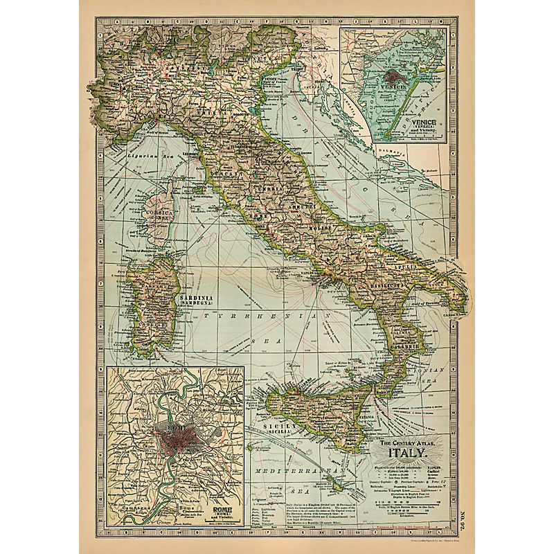 Cavallini Italian Maps (8 different areas)