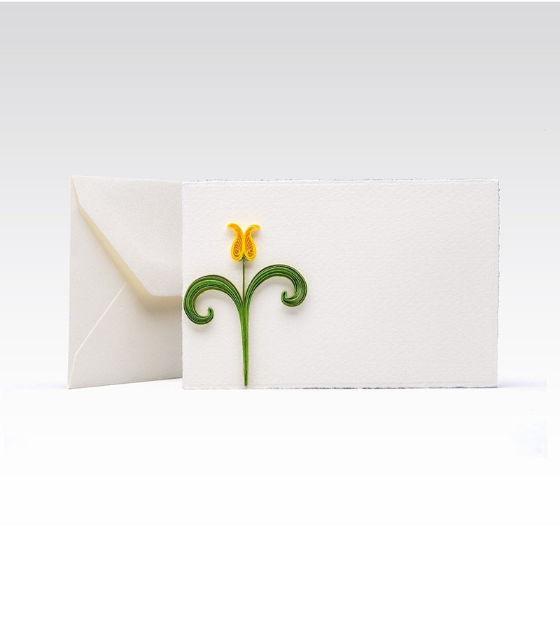 Fabriano greeting card - Quilling Tulip