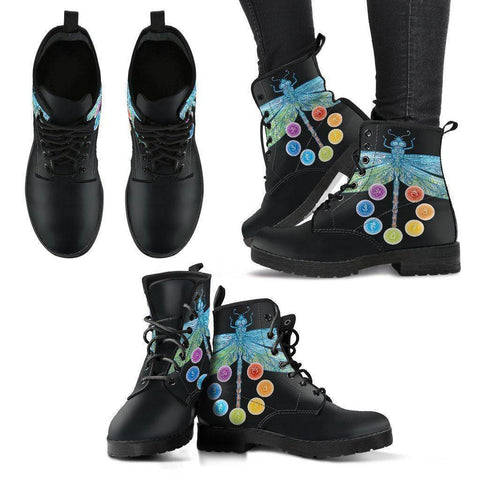Chakra and Dragonfly Women's Leather Boots