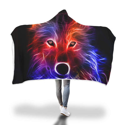Guardian Wolf Hooded Blanket