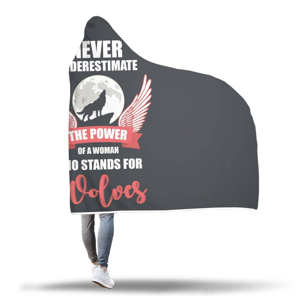 Stand for Wolves Hooded Blanket