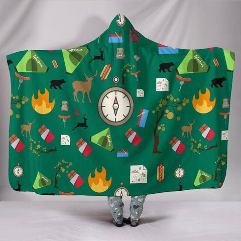 Large Camping Essentials Hooded Blanket