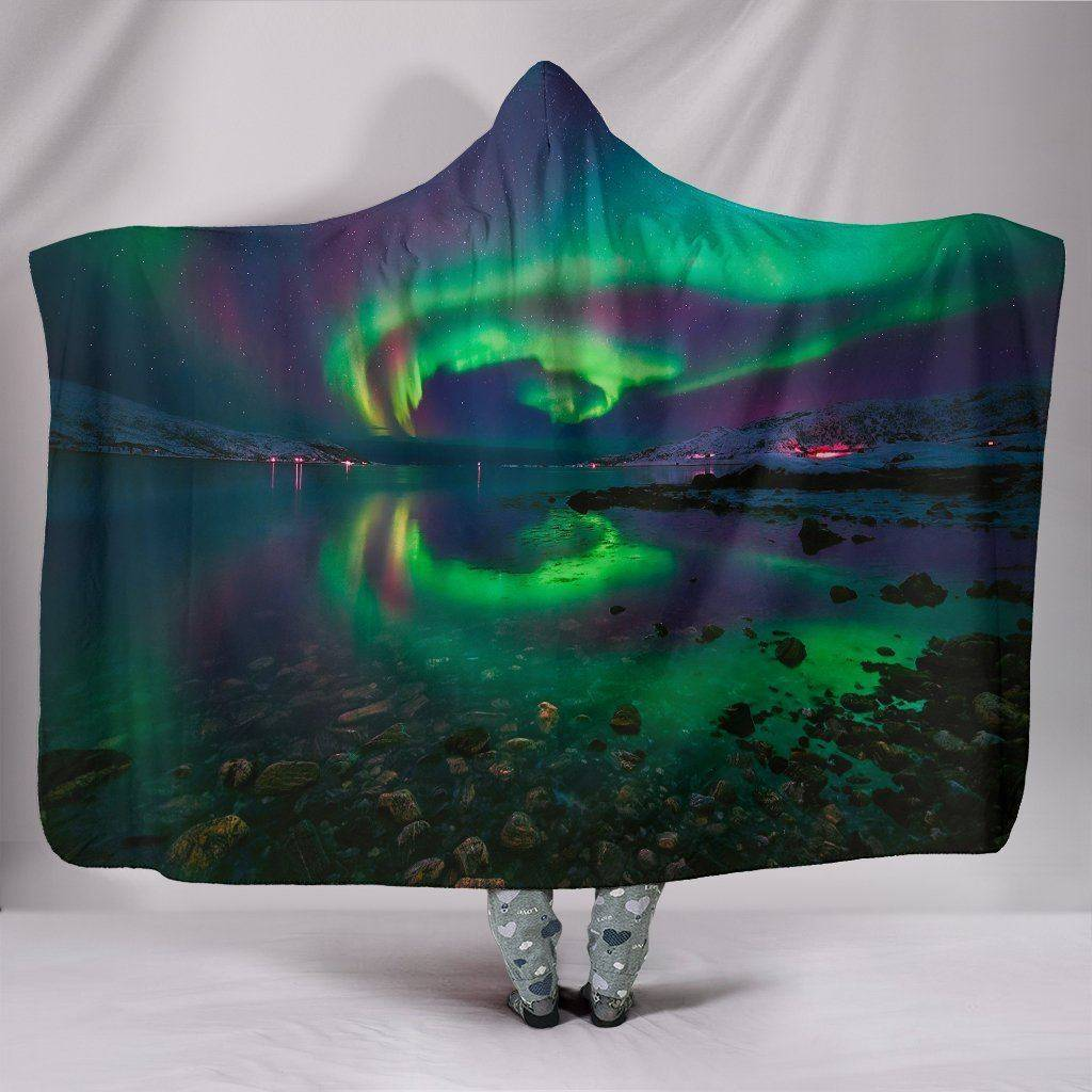Northern Lights Hooded Blanket - FREE SHIPPING