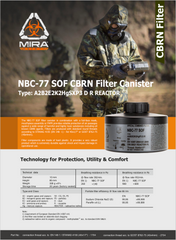Brochure for the NBC-77 SOF Gas Mask Filter