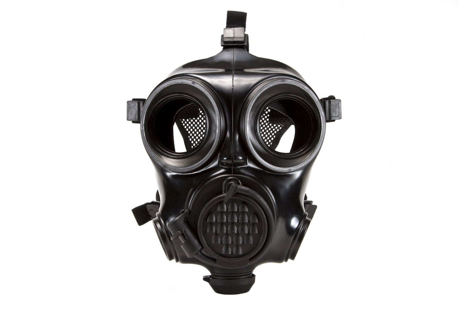 Front view of the CM-7M military gas mask